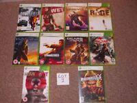 XBOX 360 GAMES £10 PER LOT