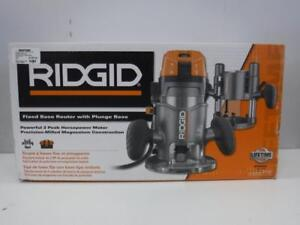 Ridgid Fixed Base Router with Plunge Base (NEW IN BOX) - We Buy and Sell Power Tools at Cash Pawn - 116989 - SR95405
