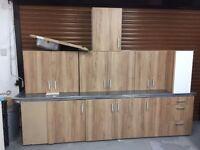 Brand New Kitchen Units with 2 Worktops, Sink & Taps
