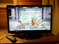 Digitrex Black Portable TV with Built in DVD with Remote Control