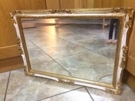 Gilt Framed Bevelled Edge Overmantel Mirror