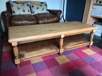 American oak coffee table. Very heavy. Fun project.
