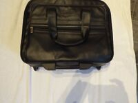 Kenneth Cole black leather laptop bag