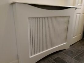 White wooden radiator cover for sale. £50.