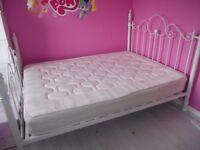 Girls White Double Princess Bed & Mattress £95