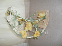 Shabby Chic cream bottle holder With Detachable Flowers