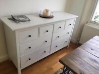 White Hemnes Ikea Chest of 8 drawers