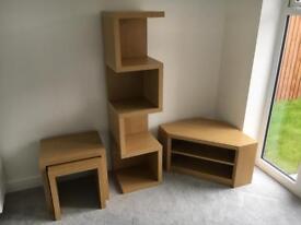 Next Opus Oak living room furniture