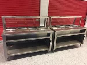 Two 5ft hot steam tables 4 well each ( like new ) only $1275 each !