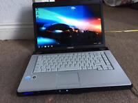"Toshiba equium A200 15.4"" dualcore Windows 7 laptop"