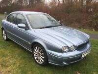 JAGUAR X-TYPE 2.0 DIESEL TDI SPORT 53 REG IN BLUE WITH GREY LEATHER,SERVICE HISTORY AND MOT FEB 2018