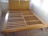 Bed frame for sale. Solid wood. Really strong