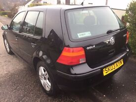 VW Golf 1.4 2003, £450 if goes today.