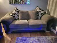3 seater amd 2 seater Fabric cushion back sofas