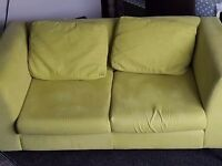 Lime green 2 seater sofa
