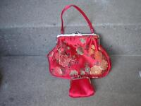 PRETTY CHINESE RED PURSE AND LITTLE WALLET/DRESSES