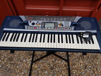 ELECTRIC KEYBOARD AND STAND (YAMAHA PSR-282)