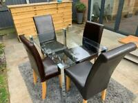Glass Dining Table and Chairs for Sale!