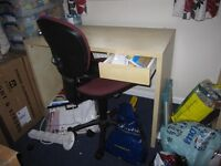 Smal desk & matching bookcase ideal for student. Desk has a small draw.