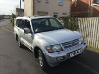 2001 MITSUBISHI SHOGUN 3.2 DID EQUIPPE LWB AUTO 7 SEATER 8 MONTHS M-O-T,LOWER TAX BRACKET £1650 OVNO