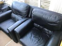 Leather sofa set 2x three seater 2x ones seater