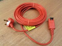 Flymo 15 Metre Lawnmower Trimmer Mains Power Cable Flex Lead. New unused.