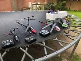 Job lot of RC Helicopters most working