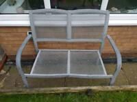 Metal mesh effect garden bench