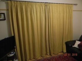 """Pair large latin design luxury Jacquard curtains fully lined 90""""drop 104"""" width patio french window"""