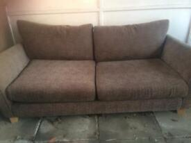 Sofa and matching foot stool.