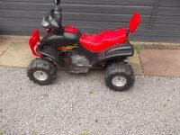 Childs battery operated 4 x 4 and motorbike without keys