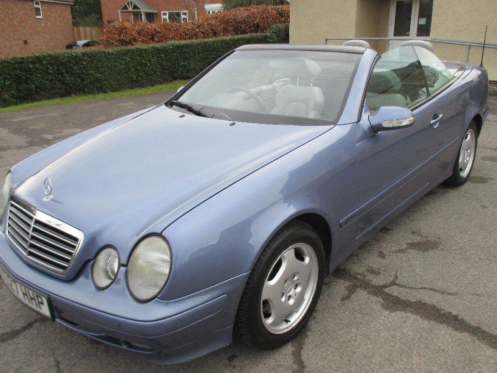 mercedes clk 230 kompressor elegance 2 3l convertible quartz blue in churchdown. Black Bedroom Furniture Sets. Home Design Ideas