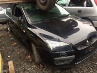 Ford Focus Zetec Climate 1.6TDCi 2005 black breaking for parts