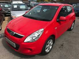 2010/59 HYUNDAI I20 1.4 CRDI COMFORT,5 DOOR,RED,£30 ROAD TAX EXCELLENT CONDITION+ECONOMICAL,STUNNING