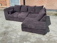 Amazing BRAND NEW brown jumbo cord corner sofa ,good quality ,can deliver