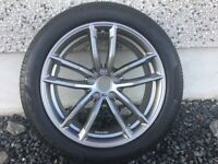 18INCH NEW GENUINE BMW 5 SERIES M-SPORT G30,G31 662 STYLE WHEELS WITH WIDER REARS&NEW RUN-FLAT TYRES