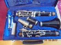 Buffet Crampon B12 Clarinet complete with case, stand & reeds.