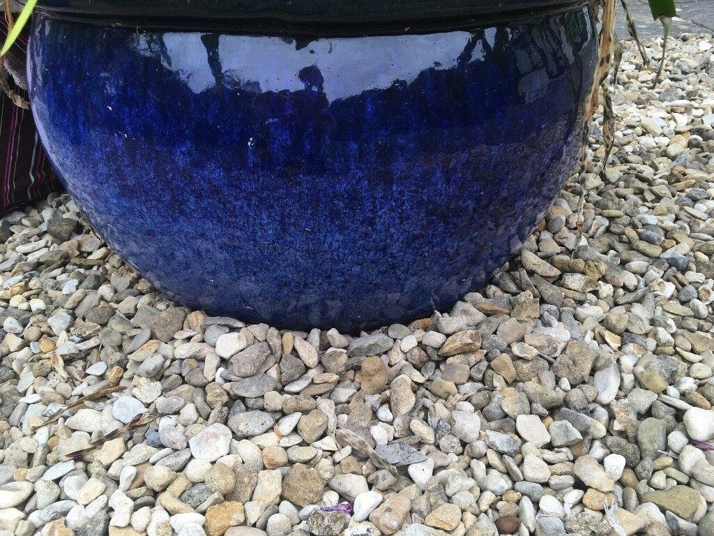 Designer Blue Frost Proof Garden Pots