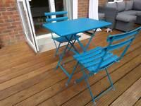 John Lewis EMU Steel Garden Bistro Table Set