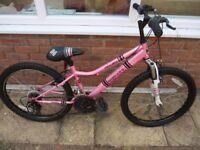 Apollo Recall Girls pink mountain bike. REDUCED FOR QUICK SALE