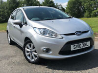 2010 FORD FIESTA 1.25 ZETEC 5 DOOR +1 OWNER FROM NEW+FULL FORD SERVICE HISTORY, NOT CORSA ASTRA CLIO