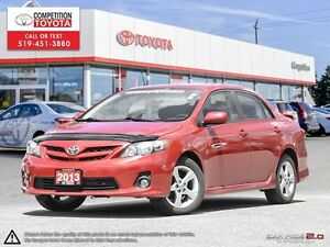 2013 Toyota Corolla S One Owner, No Accidents, Toyota Serviced