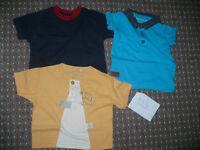 Bundle of 13 summer clothes for boy 9-12mths/ 9-12 mths. VGC! Tops/ t-shirts, bodysuits, shorts..