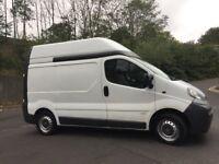 Vauxhall Vivaro 1.9 dti high roof van low miles 105k long mot reliable van