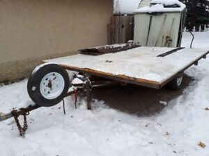 Double wide sled or quad trailer