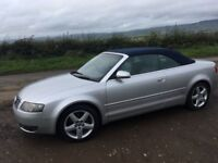 2004 Audi A4 Cabriolet 1.8T, Low Miles only 66500, 12 Months Mot, Heated Leather, Alloys
