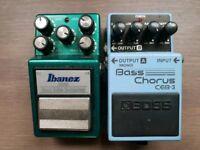 Boss Bass Chorus Pedal CEB-3 & Ibanez Tubscreamer TS9B & Boss BCB-30 case