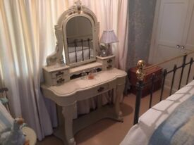 Antique Dressing Table, painted with mirror
