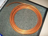 Copper tubing - 8mm diameter - approx 7.5m coil - copper pipe, plumbing, heating