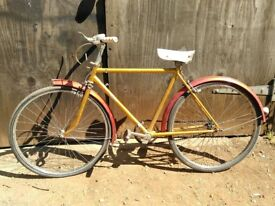 Vintage 1970's Raleigh Jeep rare bicycle mid size all original un-restored needs tubes / tyres